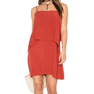 NWT Splendid Brick Red Overlay Tank Dress